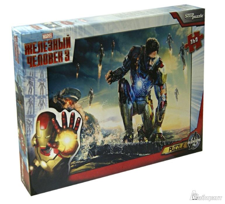 """Иллюстрация 1 из 2 для Step Puzzle-360 Marvel """"Железный человек-3"""" (96021)   Лабиринт - игрушки. Источник: Лабиринт"""