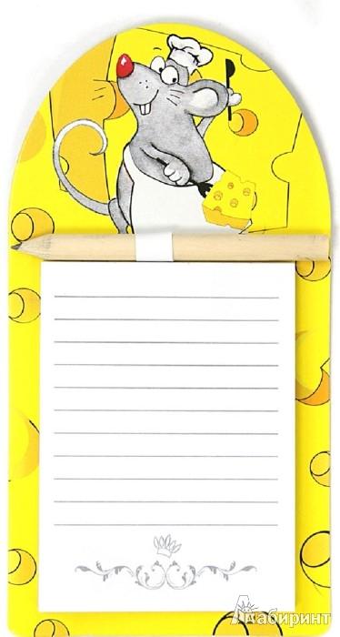 Иллюстрация 1 из 7 для Блок для записи с карандашом на магните, в ассортименте (29710) | Лабиринт - канцтовы. Источник: Лабиринт