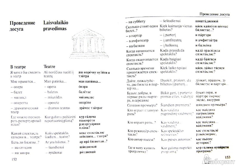 Иллюстрация 1 из 5 для Русско-литовский разговорник | Лабиринт - книги. Источник: Лабиринт