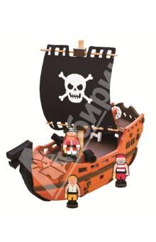 3D пазл. Мягкий конструктор, 41 деталь Пиратский корабль (М5950)