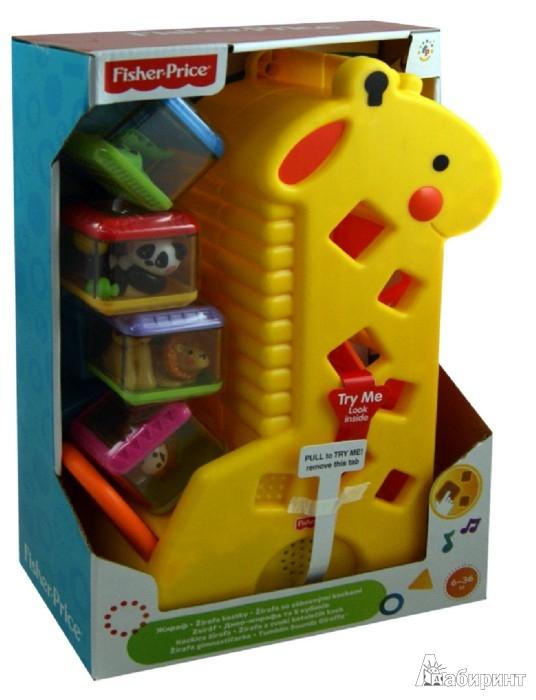 Иллюстрация 1 из 9 для Жираф с кубиками Fisher-Priсe (4253B) | Лабиринт - игрушки. Источник: Лабиринт