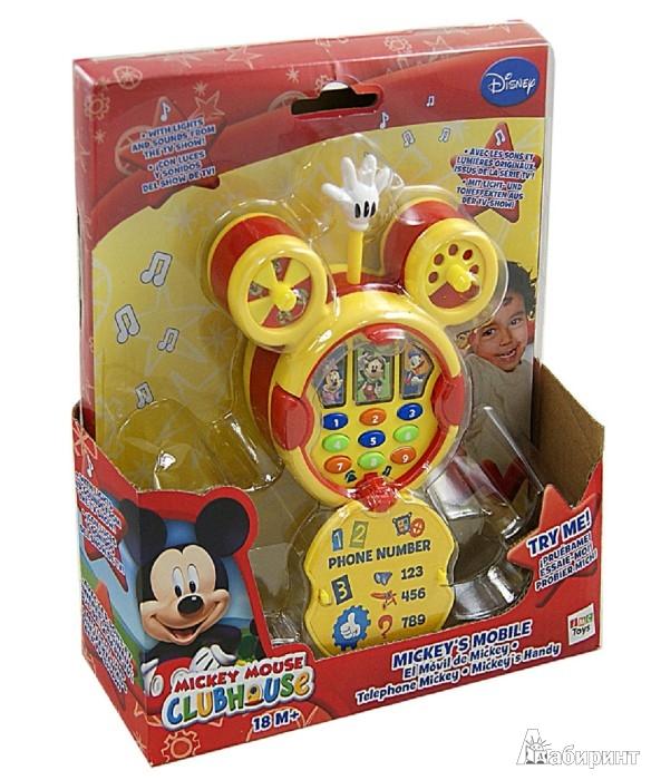 Иллюстрация 1 из 2 для Телефон  Mickey Mouse со светом и звуком (180710) | Лабиринт - игрушки. Источник: Лабиринт