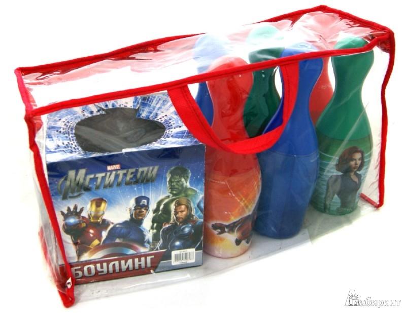 """Иллюстрация 1 из 2 для Боулинг """"Супергерои"""" 6 кеглей + шар в сумке (GT6011)   Лабиринт - игрушки. Источник: Лабиринт"""