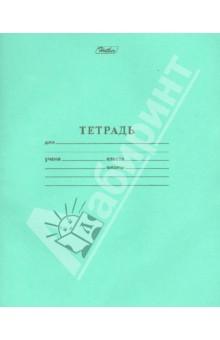 """Тетрадь школьная """"Зеленая"""" (12 листов, косая линия) (12Т5В6_05112)"""
