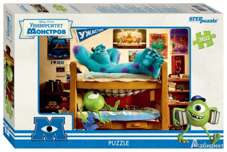 """Иллюстрация 1 из 9 для Step Puzzle-360 """"PIXAR. Университет Монстров"""" (96022)   Лабиринт - игрушки. Источник: Лабиринт"""