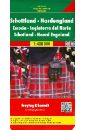 Scotland - North England. 1:400 000 various best castles england ireland scotland wales
