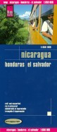 Nicaragua. Honduras. El Salvador. 1:650 000