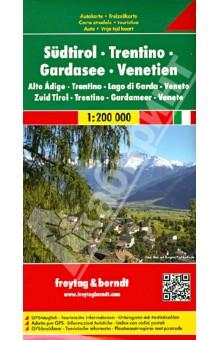 South Tyrol - Trentino - Lake Garda - Venezia. 1:200 000 india south 1 1 200 000
