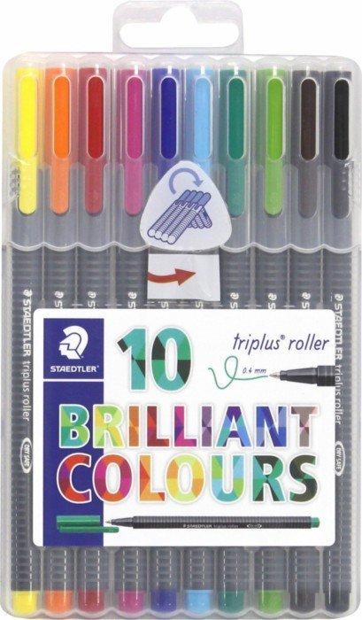 Иллюстрация 1 из 4 для Роллер Triplus 0,4 мм, 10 цветов (403SB10) | Лабиринт - канцтовы. Источник: Лабиринт