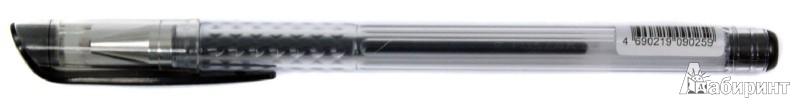 Иллюстрация 1 из 5 для Ручка гелевая. Черная. В прозрачном корпусе (TZ 118 A) | Лабиринт - канцтовы. Источник: Лабиринт