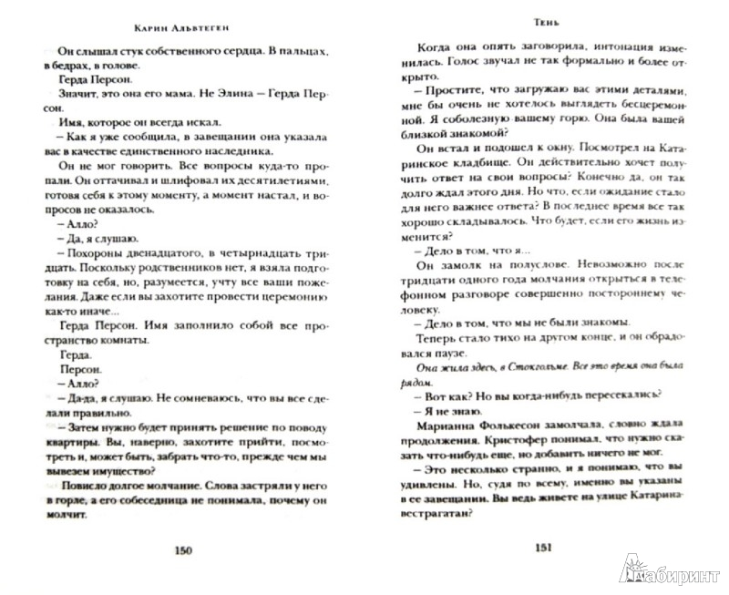 Иллюстрация 1 из 7 для Тень - Карин Альвтеген | Лабиринт - книги. Источник: Лабиринт