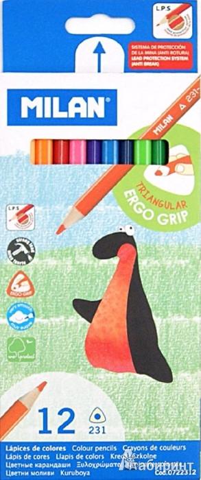 Иллюстрация 1 из 4 для Карандаши цветные трехгранные, 12 цветов (0722312) | Лабиринт - канцтовы. Источник: Лабиринт