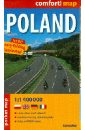 Польша. Ламинированная карта-покет. Масштаб 1:1400000