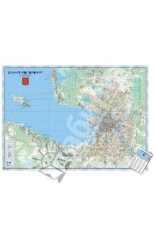 Санкт-Петербург. Настенная карта, ламинированная казань настенная карта