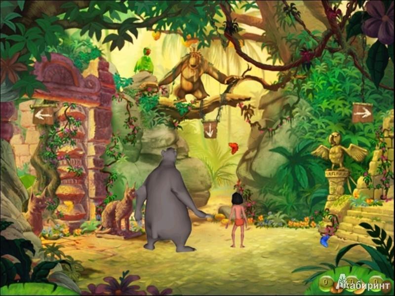 Иллюстрация 1 из 3 для Книга Джунглей. Готовимся к школе с Маугли (DVDpc) | Лабиринт - софт. Источник: Лабиринт