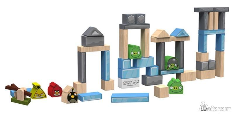 """Иллюстрация 1 из 2 для Набор деревянных кубиков  """"Angry Birds"""" в банке. 50 штук. (Т56246)   Лабиринт - игрушки. Источник: Лабиринт"""