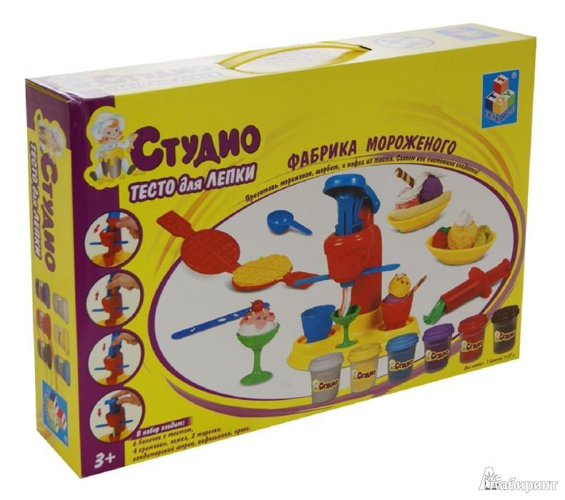 """Иллюстрация 1 из 17 для Набор теста """"Фабрика мороженого"""" 6 цветов (Т54852)   Лабиринт - игрушки. Источник: Лабиринт"""