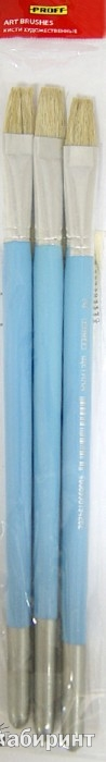 Иллюстрация 1 из 2 для Кисти художественные № 20 щетина плоская, 3 штуки (BBP-20F) | Лабиринт - канцтовы. Источник: Лабиринт