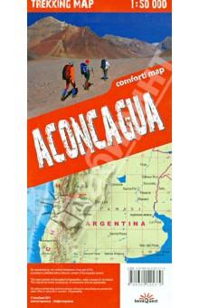 Аконкагуа. Карта гор. Aconcagua 1:50000 trekking map