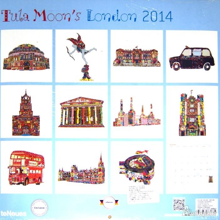 "Иллюстрация 1 из 2 для Календарь на 2014 год ""Лондон Тулы Мун"" (7-6538) | Лабиринт - сувениры. Источник: Лабиринт"