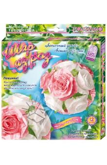 Купить Шар из роз. Создание цветочного шара в технике бумагопластики (АБ 41-503), Клевер, 3D модели из бумаги