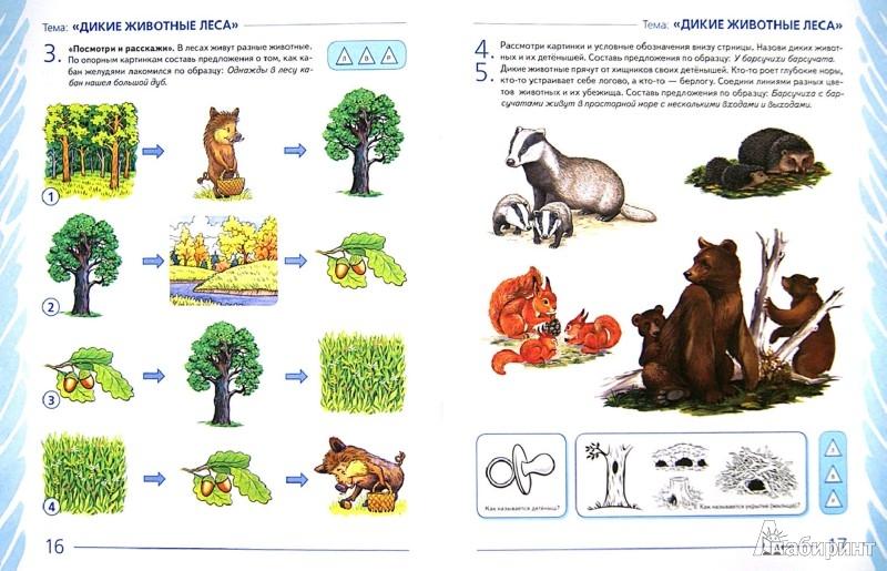 Иллюстрация 1 из 37 для Развиваем связную речь у детей 5-6 лет с ОНР. Альбом 2. Мир животных - Нелли Арбекова | Лабиринт - книги. Источник: Лабиринт