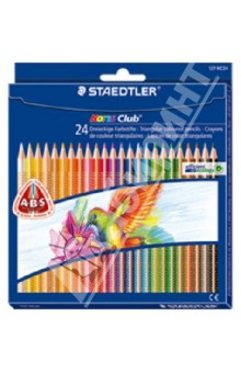 Карандаши Noris Club (24 цвета) (127NC24) карандаши цветные noris colour 24 цветные трехгранные 187c24