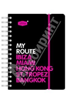 """Записная книжка А6 """"My Route"""" 80 листов, линейка (83355)"""