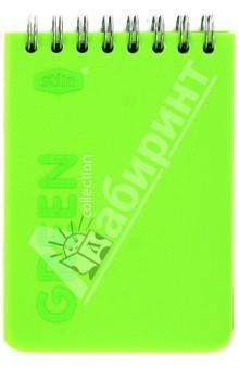"""Блокнот А7 """"Green"""" 50 листов, клетка (83362)"""