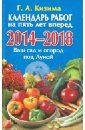 Календарь работ на 5 лет вперед. 2014 - 2018.  Ваш сад и огород под Луной