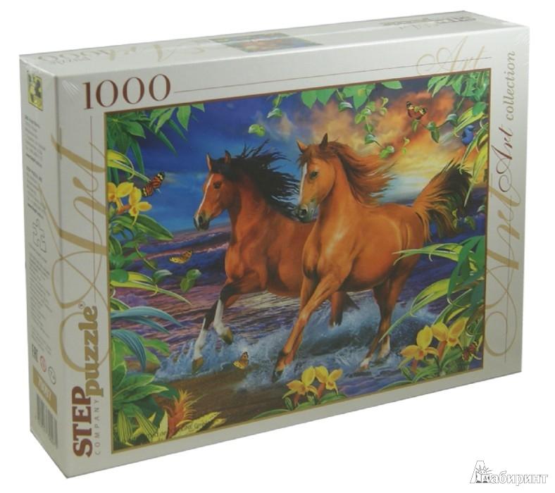 """Иллюстрация 1 из 3 для Step Puzzle-1000 """"Лошади"""" (79097)   Лабиринт - игрушки. Источник: Лабиринт"""