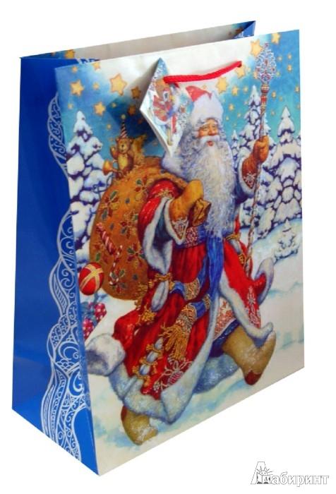 """Иллюстрация 1 из 2 для Пакет бумажный """"Новый год"""". 26х33х13 см. (31450)   Лабиринт - сувениры. Источник: Лабиринт"""