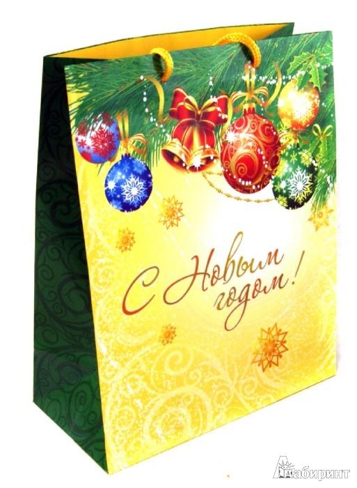 """Иллюстрация 1 из 4 для Пакет бумажный """"Новый год"""". 26х33х13 см. (31467)   Лабиринт - сувениры. Источник: Лабиринт"""