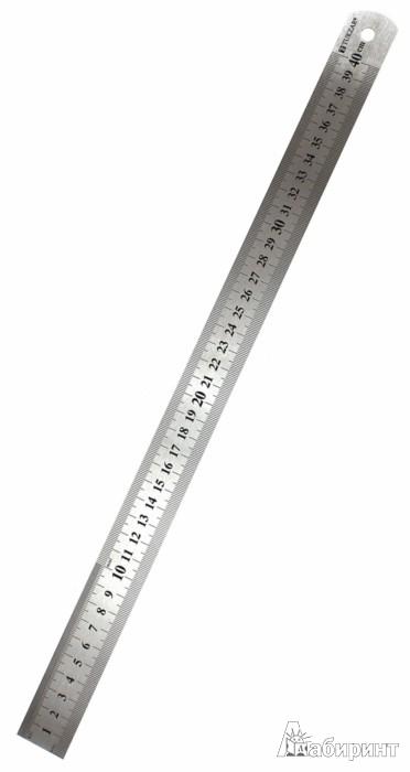Иллюстрация 1 из 5 для Линейка металлическая 40см (TZ 390) | Лабиринт - канцтовы. Источник: Лабиринт