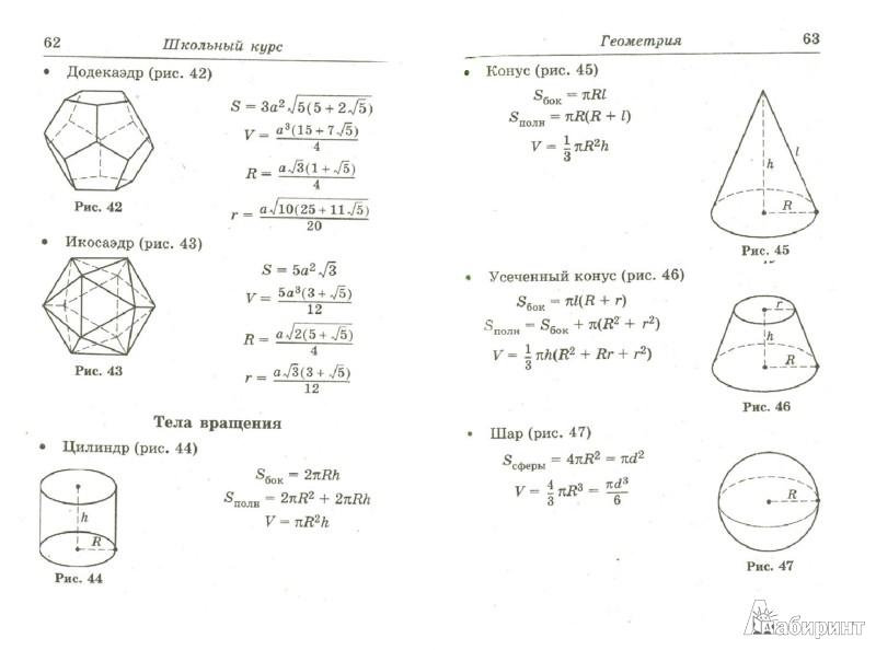 шпаргалка по геометрии и стереометрии