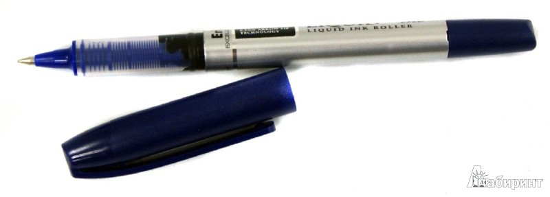 """Иллюстрация 1 из 4 для Ручка роллер синий """"ER-50"""" (141530)   Лабиринт - канцтовы. Источник: Лабиринт"""