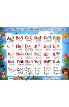 Английский алфавит для малышей. Многоразовый плакат