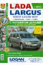 Фото - Автомобили Lada Largus/Dacia Logan MCV (с 2012 г.) Эксплуатация, обслуживание ремонт автомобили lada 110 111 112 с 8 клапанными двигателями 1 5i и 1 6i эксплуатация обслуживание