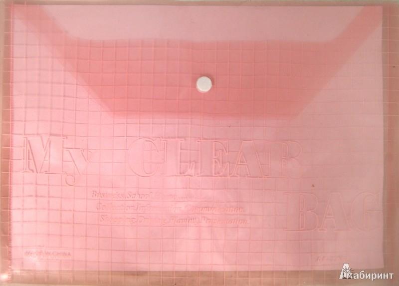Иллюстрация 1 из 3 для Папка на кнопке. А4. Пластиковая. Красная (CY209-12-R)   Лабиринт - канцтовы. Источник: Лабиринт