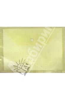 Папка на кнопке А4 пластиковая, желтая (CY209-12-Y)