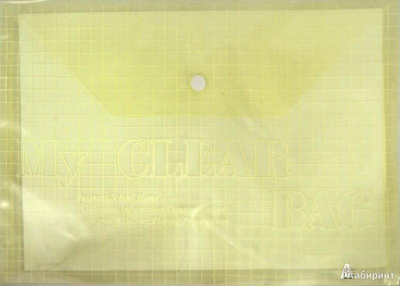 Иллюстрация 1 из 2 для Папка на кнопке А4 пластиковая, желтая (CY209-12-Y) | Лабиринт - канцтовы. Источник: Лабиринт