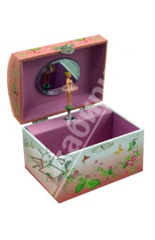 Шкатулка музыкальная в форме купола Балерина с бабочками (40000) музыкальная шкатулка jakos балерина цвет бежевый розовый