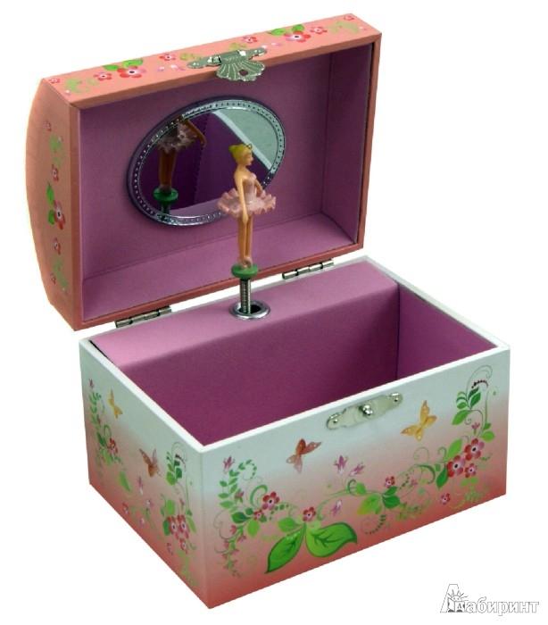 """Иллюстрация 1 из 7 для Шкатулка музыкальная в форме купола """"Балерина с бабочками"""" (40000)   Лабиринт - игрушки. Источник: Лабиринт"""