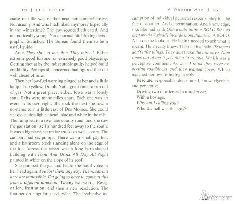 Иллюстрация 1 из 8 для A Wanted Man - Lee Child   Лабиринт - книги. Источник: Лабиринт