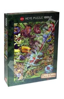 Puzzle-1000 Обитатели тропического леса, коллажи (29617)
