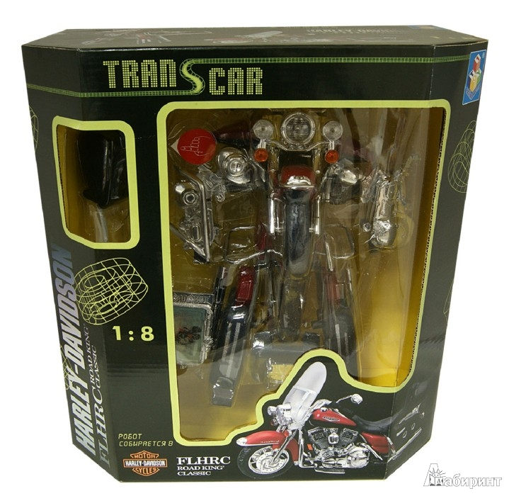 Иллюстрация 1 из 2 для Транскар Harley-Davidson FLHRC, робот, масштаб 1:8 (Т51607) | Лабиринт - игрушки. Источник: Лабиринт