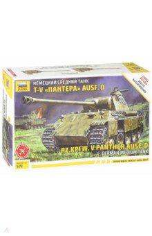 Сборная модель Немецкий средний танк Т-V Пантера Ausf. D (5010) звезда сборная модель немецкий средний танк pz iv ausf d