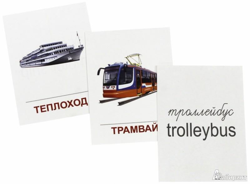 """Иллюстрация 1 из 11 для Раздаточные карточки """"Транспорт"""" (63х87мм)   Лабиринт - книги. Источник: Лабиринт"""