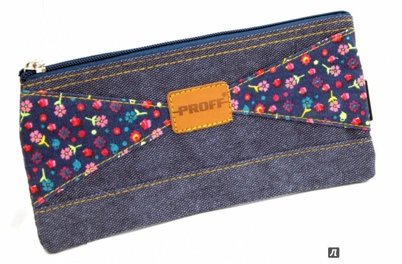 Иллюстрация 1 из 5 для Пенал плоский джинсовый темно-синий (PA4065)   Лабиринт - канцтовы. Источник: Лабиринт