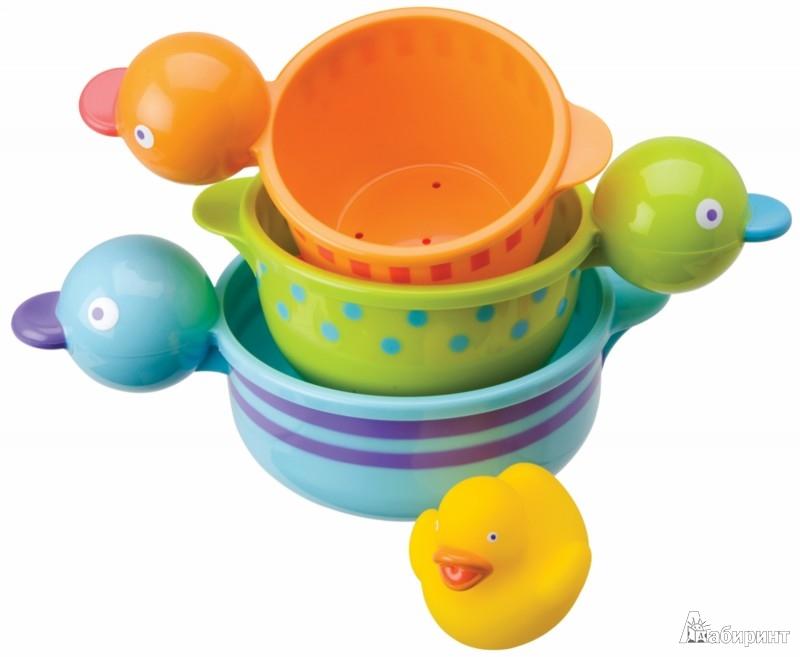 """Иллюстрация 1 из 2 для Набор  для ванны """"Чашки-уточки"""" (833Q)   Лабиринт - игрушки. Источник: Лабиринт"""